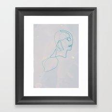 One Line Abe Sapien Framed Art Print