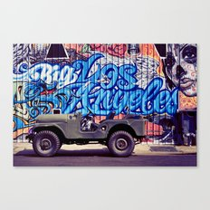 Big Los Angeles Graffiti Canvas Print