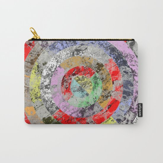 Textured Bullseye - Abstract, marble, pastel colours Carry-All Pouch