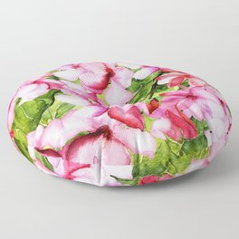 Aloha-my tropical pink oleander flower garden Floor Pillow