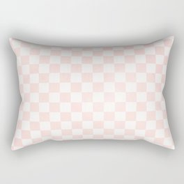 Pink Coral Checkers Rectangular Pillow