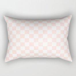 Pink Coral Checkers Rectangular Pillow