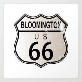 Bloomington Route 66 Art Print