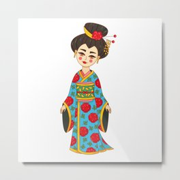 Geisha Japan girl Metal Print