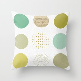Circles Boxed In Throw Pillow