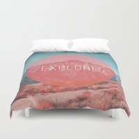 explore Duvet Covers featuring Explore by Zeke Tucker