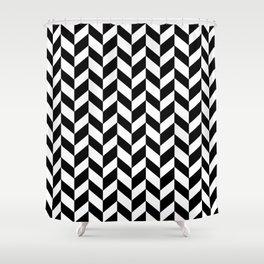 HERRINGBONE (BLACK & WHITE) Shower Curtain