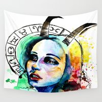 capricorn Wall Tapestries featuring Capricorn by Gabi Xavier