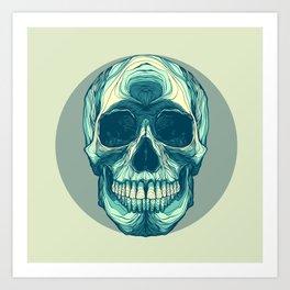Skull study Art Print