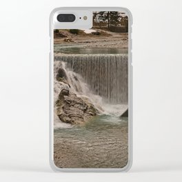 Sava River Waterfall Clear iPhone Case
