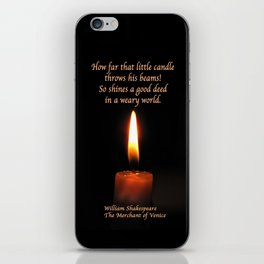 Shakespeare Candle Flame iPhone Skin
