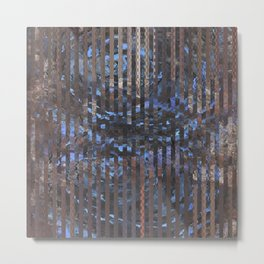Abstract blue and brown Metal Print