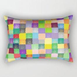 Pixelated Patchwork Rectangular Pillow