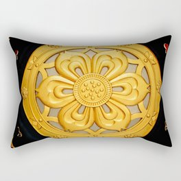 Golden Lantern Rectangular Pillow