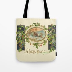 A Happy Vintage New Year Tote Bag