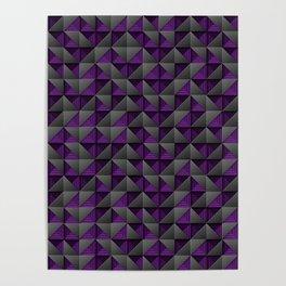 Tech Mosaic Purple Poster