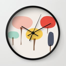 Glass Trees Wall Clock