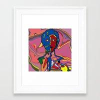 le petit prince Framed Art Prints featuring le petit prince 2 by Stéphanie Delaine Melusine