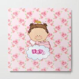 Baby Rose Is a Angel Metal Print