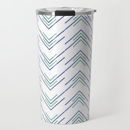 Sharp ZigZag Pattern Travel Mug