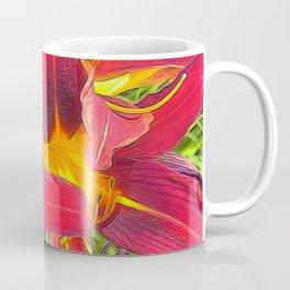 Three Red Tigerlilies Coffee Mug