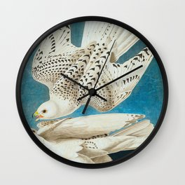 Iceland, or Jer Falcon Wall Clock