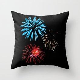 Patriotic Fireworks Throw Pillow