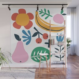 Colorful Fruit Garden Cut Out  Wall Mural