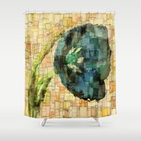 tulip Shower Curtains featuring Tulip by Aloke Design