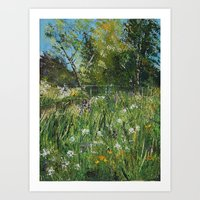 The riverbank Art Print