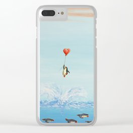 breakthrough penguin Clear iPhone Case