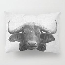 African Buffalo - Black & White Pillow Sham