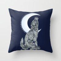 lunar Throw Pillows featuring Lunar by MacUaine