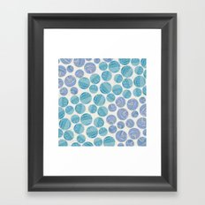 Zentangle Circles Framed Art Print