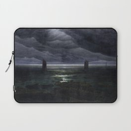 Caspar David Friedrich - Sea Shore in Moonlight - Küste bei Mondschein Laptop Sleeve