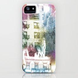 N.Y. collage color burst iPhone Case