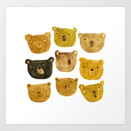 Bears Art Print