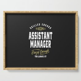 Assistant Manager Serving Tray