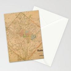 Civil War Washington D.C. Map Stationery Cards