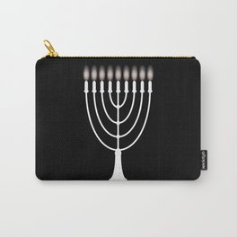 Menorh With Nine Candles Carry-All Pouch