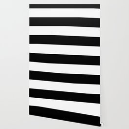 Black White Stripe Minimalist Wallpaper