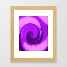 Purple tie dye Framed Art Print