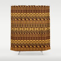 south africa Shower Curtains featuring Pixeled Africa by los_ojos_pardos