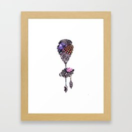 Amethyst Brooch Framed Art Print