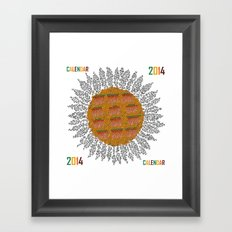 Calendar 2014 - Sunflower Framed Art Print