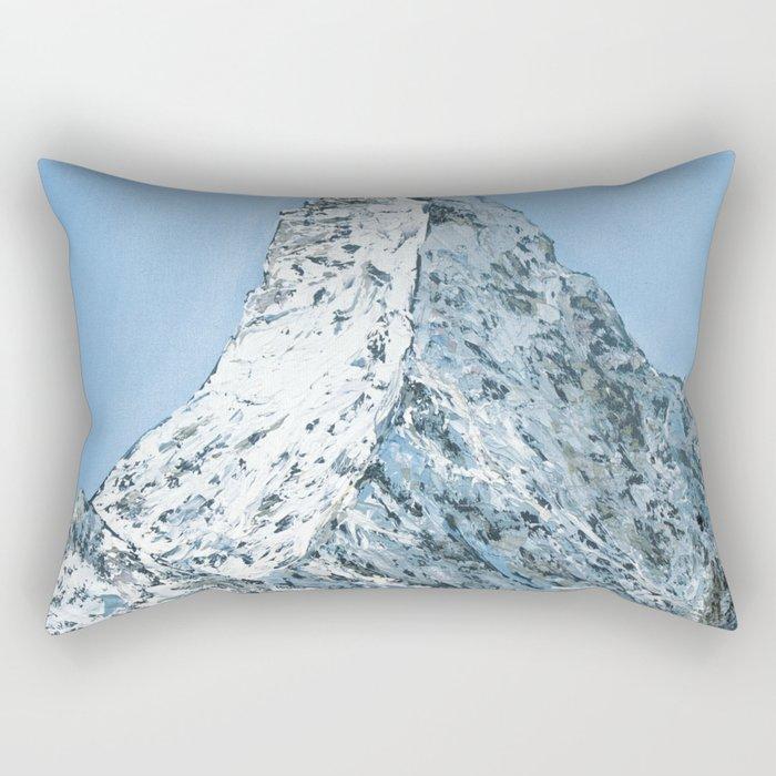 Matterhorn winter view Rectangular Pillow