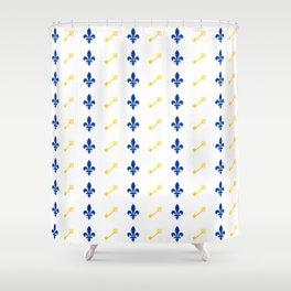 Key & Fleur De Lis Print Shower Curtain