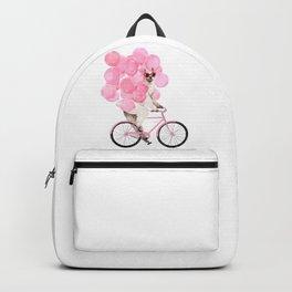 Riding Llama with Pink Balloons #1 Backpack