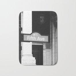 5TH Avenue (Black & White) Bath Mat