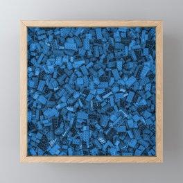 Master builder Blue Framed Mini Art Print